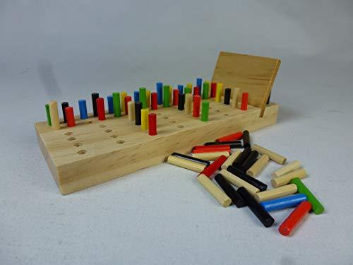 Kinder Denk-Spiel aus Holz, IQ-Logik-Spiel, Spielend das Gedächtnis tranieren, Steckspiel, 4 in Einer Reihe