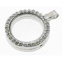 Corsage Creations-Brillantini a forma di cerchio, colore: argento, diametro 2,5 cm, colore: argento
