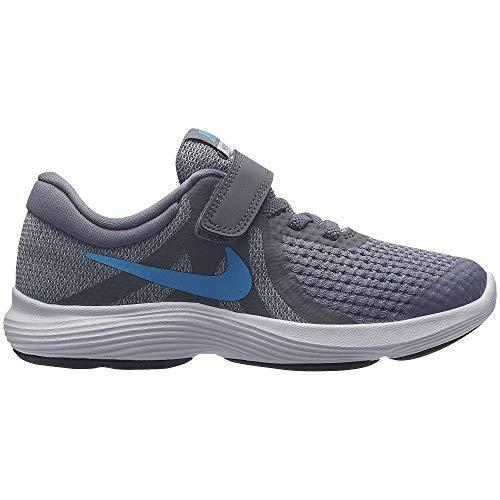 Nike Jungen Revolution 4 (PSV) Leichtathletikschuhe, Mehrfarbig (Cool Grey/Blue Fury/Pure Platinum/Black 014), 31 EU