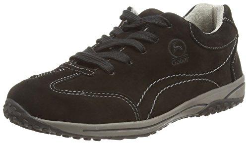 Gabor Geno, Damen Sneakers, Schwarz - Black (Black Nubuck) - Gr. 43 EU/9 UK