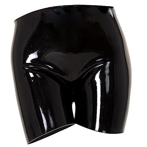 EXLATEX Womens Latex Gummistiefel Panty Clubwear Fetisch Unterw?sche (Mankini Kostüm)