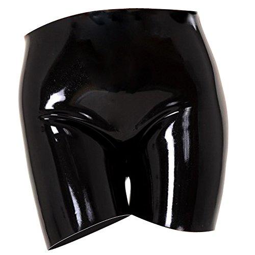 EXLATEX Womens Latex Gummistiefel Panty Clubwear Fetisch Unterw?sche (Weibliche Piraten Hut)