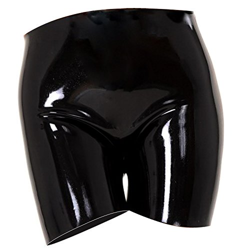 EXLATEX Womens Latex Gummistiefel Panty Clubwear Fetisch (Ballkleid Ariel Kostüm)