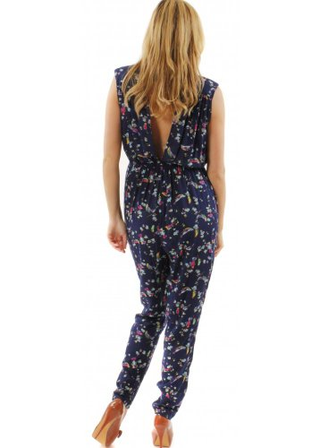 Traffic People Virtue Jumpsuit Birds blau XS-S Blau