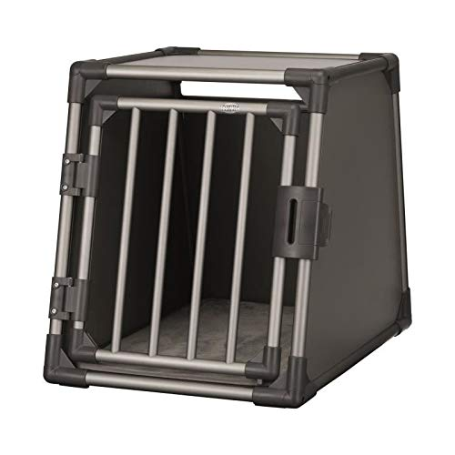 TRIXIE 39336 Transportbox, Aluminium, M: 55 × 61 × 74 cm, Graphit