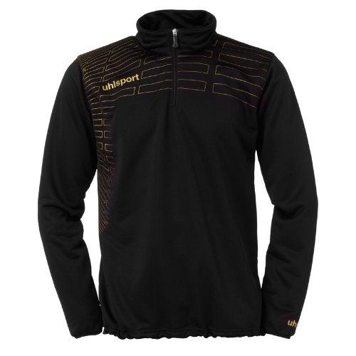 uhlsport Pullover Match 1/4 Zip Top Schwarz/Gold, S 1/4 Zip Pullover Top