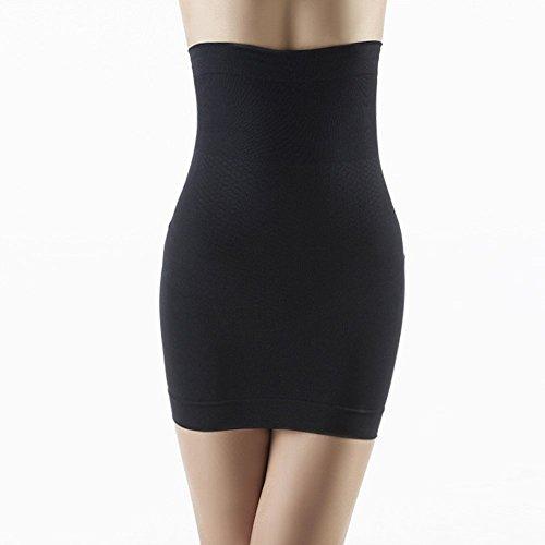 TININNA Damen Frauen Nahtlos Hohe Taille Miederkleid Taillenmieder Bodysuit Shapewear Miederbody Bauchweg Figurformender M schwarz