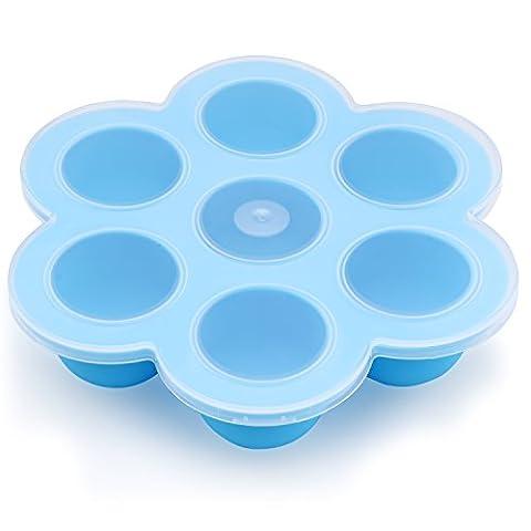 Belmalia Récipient de congélation, Moule en silicone pour la congélation des aliments pour bébés, multifonctionnel Bleu
