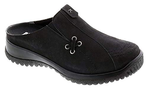 Nubuck Casual Clogs (Drew Shoe Hannah 17102 Women's Casual Clog Leather Buckle)