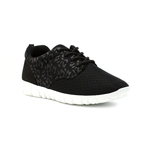 Lilley Womens Black Lace Up Lightweight Trainer - Size 5 - Black