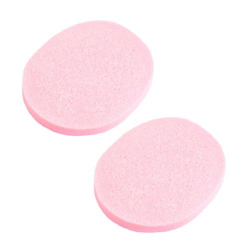 sourcingmap® Tampon en éponge démaquillage nettoyage du visage ovale - Rose (lot de 2)