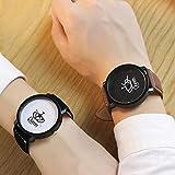 King und Queen Paare Armbanduhr Design Zeiger Quarz Uhren mit PU Leder Band runden Zifferblatt Armbanduhr mit Box