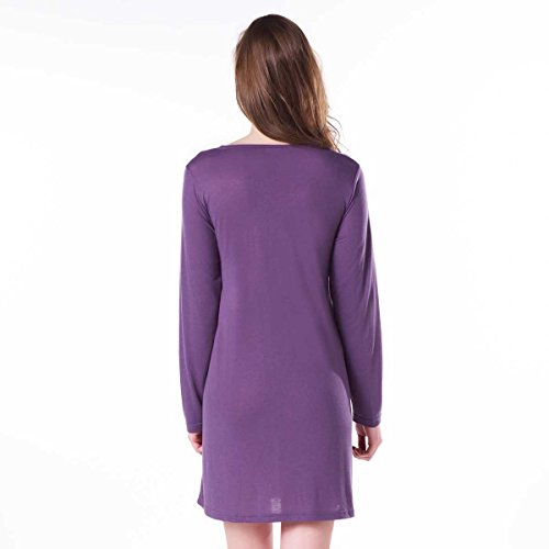 Pomm'poire - Chemise de nuit parme Mona - Femme Violet