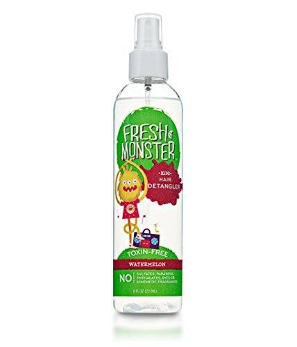 Fresh Monster Kids Hair Detangler Spray (Watermelon, 8 oz) - Toxin-Free - Sulfate-Free - Paraben-Free - Natural Conditioning Spray Smoothes Tangles - Hypoallergenic - Natural Kids Detangler Spray by Fresh Monster (Blue Monster Aus Monsters Inc)