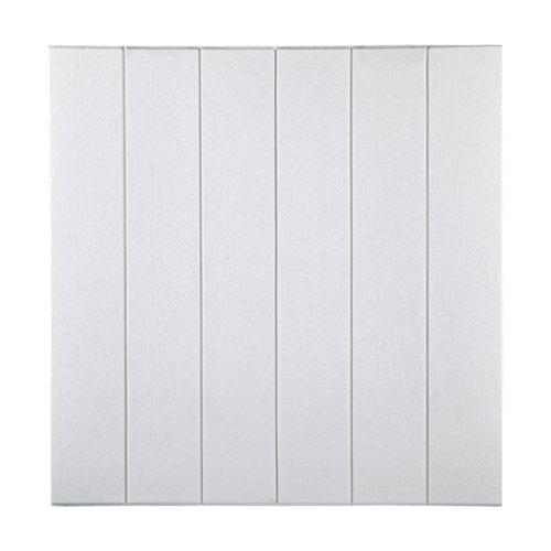 KINLO 5pcs 70 x 70 cm Tapete Selbstklebend 3D Wandaufkleber PVC Verdicht DIY Schaum Wandpaneele Wallpaper für TV Schlafzimmer Wohnzimmer Deko Weiß