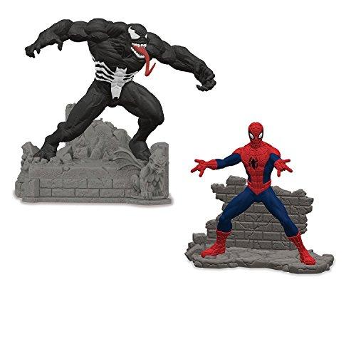 Schleich Marvel Spiel-Set Neuheiten 2017 - Spider-Man 21502 vs. Venom 21506 - Superhelden (Schwarz Spiderman Kostüm Figur)