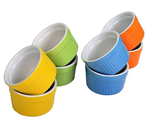 Set de 8 bandejas para horno, Blow Rack, Cream Burn Rack - Surtido de 4 colores - Arenisca esmaltada