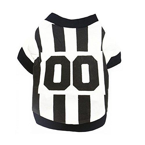 17years Fashion Pet Puppy Kleidung Sport Style Polo Shirt gestreift T-Shirt Hund Bekleidung? (Pet-style-kleidung)
