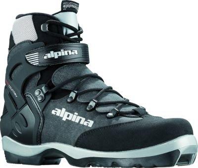 Alpina bc-1550wartet Nordic Langlauf Ski Stiefel für nnn-bc Bindungen, Kinder, schwarz/silber