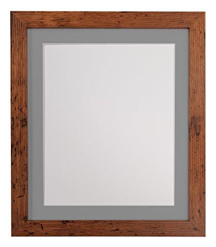 H7Vintage madera marco de fotos con blanco