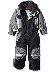 Peak Mountain Eplanx - Traje de esquí para niño, traje, color negro, tamaño 5 años