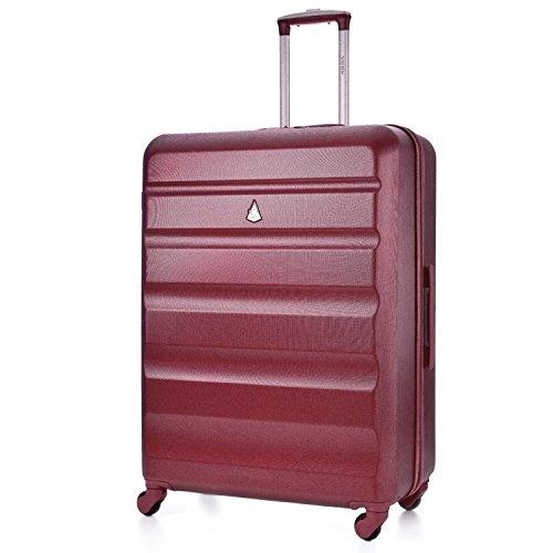 Aerolite ABS Trolley Bagaglio da Stiva Valigia Rigida Leggera Grande con 4 Ruote, 79cm, 127L, Vino Rosso
