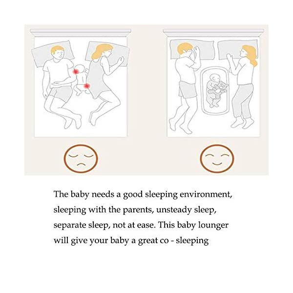 YANGGUANGBAOBEI Portable Baby Crib - Breathable And Hypoallergenic Toddler Newborn Co-Sleeping Lounger Bed For 0-24 Months YANGGUANGBAOBEI [BREATHABLE - WASHABLE]: Thousands of mesh holes and elastic layer maintain air circulation. The baby sleep pod can offer your baby good breathing environment when he sleeping. Even after repeated washing, its zipper will remain well. [ADJUSTABLE - FOLDING]: The slope of the head position of the baby bed can be adjusted from 5 to 30 degrees, it is not only suitable for sleeping, but also can be a baby bean bag. The folding design is easy to carry When you travel outside. [SOFT PAD - INSIDE DIMENSIONS]: This baby frame comes with an extra soft foldable cushion. You don't have to add anything extra to make your baby feel comfortable. The plastic frame is BMC material which is very light and firm. 4