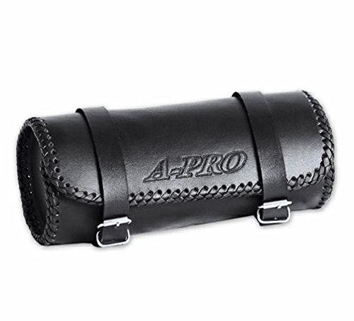 A-pro Panniers Heavy Duty Motorbike Motorcycle Cruiser Tool Bags Custom Black