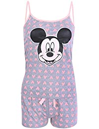 Pijama Gris y de Colores neón Mickey Mouse Disney