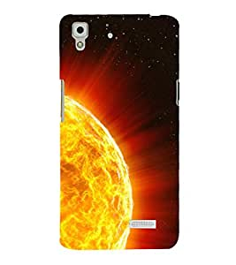 printtech Sun Rays Flame Back Case Cover for Sony Xperia T2 Ultra