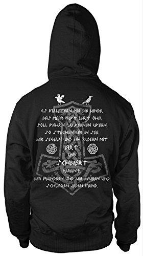 AXT & Schwert Männer und Herren Kapuzenpullover   Vikings Wikinger Ragnar     FB (L) (Axt Berserker)