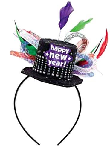 erdbeerclown - Damen Herren Silvester Hut, Happy New Year, Party Accessoires, (Roll Kostüme And Moderne Rock)