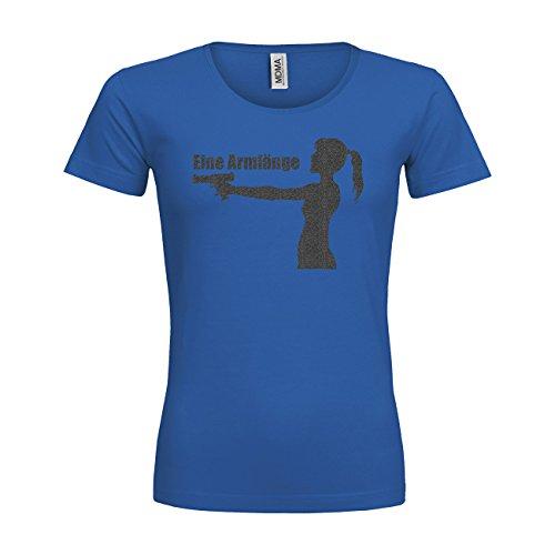 MDMA Frauen Premium T-Shirt Eine Armlänge Abstand N14-mdma-ftp00347-226 Textil royalblue / Motiv glitterschwarz / Gr. XS 226 Verkleidung