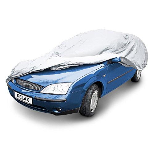 Preisvergleich Produktbild Relaxdays Autogarage, T x B x H: 483 x 178 x 120 cm, Größe L, mit Tragetasche, wasserdicht, Abdeckplane, PEVA, grau