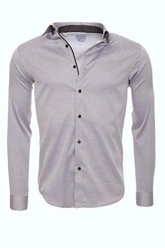 SELECTED HOMME -  Camicia classiche  - Basic - Maniche lunghe  - Uomo chiaro grigio Melange S