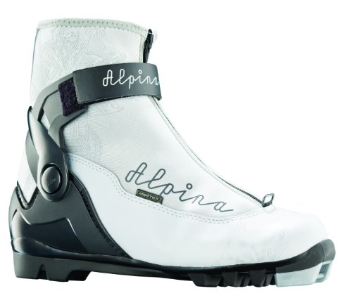 Alpina Damen-T20Eve Plus Langlauf Nordic Touring Ski Stiefel mit Knöchelbandage, silber / schwarz (Alpina-touring-ski)