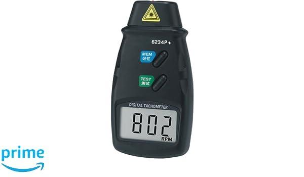 Pixtic 6234p digitaler drehzahlmesser laser: amazon.de: elektronik