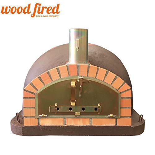 Brown Premium Italian Wood Fired Pizza Oven Orange Arch, 90cm
