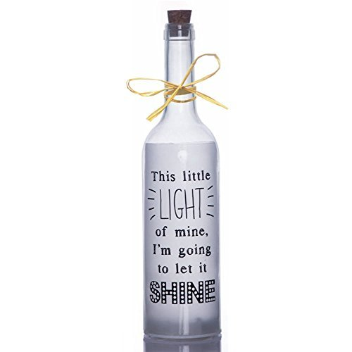 Boxer SB1106 Klein Licht Sterne licht Flasche, Glas, weiß