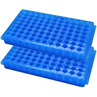 Caja de puntas de pipeta de pipeta Suministros de laboratorio rectangulares Azul 96 Posición 2 piezas