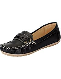 Fausto Women's Synthetic Loafers and Mocassins Casual Shoes
