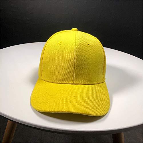 hat-maihef Hut Frühling und Sommer Damen Volltonfarbe Licht Baseballmütze weibliche koreanische Licht i Platte Volltonfarbe Baseballmütze gelb einstellbar