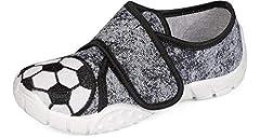 Idea Regalo - Ladeheid Pantofole Bambini LARW005 (Grigio/Bianco/Calcio, 26)
