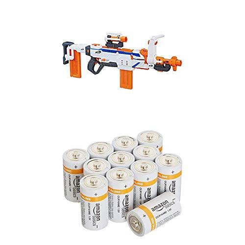 Hasbro C1294EU4 - N-Strike Modulus Regulator vollautomatischer Spielzeugblaster mit AmazonBasics Batterien