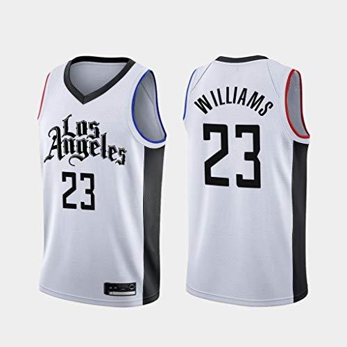 BXWA-Sports Stadt Version # 23 Williams Los Angeles Clippers NBA Männer Basketball Jersey Basketball-Trikot Fitness T-Shirt Top-Wettbewerb Vest Trikots,XL(185cm/85~95kg)