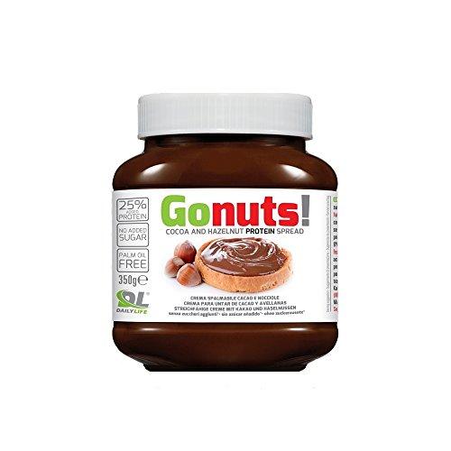 Daily life gonuts - cioccolata spalmabile di cacao e nocciole - con il 25% di proteine del siero latte - 350 gr