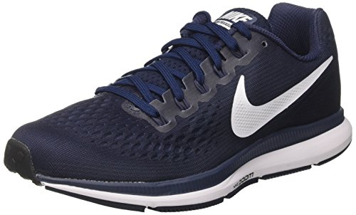 Nike Air Zoom Pegasus 34, Scarpe da Running Uomo Multicolore (Obsidian/white/neutral Indigo/blue Recal)