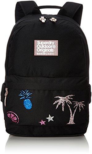 Superdry Glitter Montana - Bolso mochila de Material Sintético para mujer Negro negro