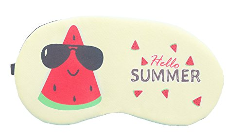 Jenna Mellon Cream Cartoon Face Sleeping Eye Mask