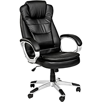 TECTAKE LUXURY OFFICE CHAIR WITH DOUBLE CUSHION: Amazon.co.uk ...